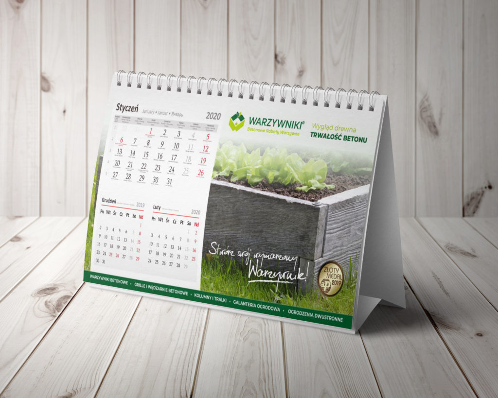 kalendarze - projektowanie graficzne rzeszów - agencja marketingowa concrea